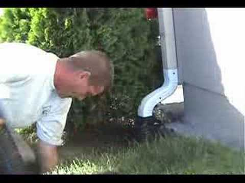 How To Recess Downspouts In About Four Minutes Youtube