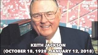 Iconic broadcaster Keith Jackson passes away at 89.