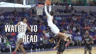 WATCH YO HEAD!!! Cole Anthony Flies In For The Poster! Oak Hill Vs DJ Jeffries