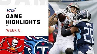 Buccaneers vs. Titans Week 8 Highlights | NFL 2019