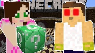 Minecraft: EMERALD LUCKY BLOCK 100 WAYS TO DIE - Lucky Block Mod - Modded Mini-Game