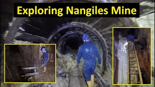Exploring Nangiles Mine, deep into a Cornish tin/copper mine.