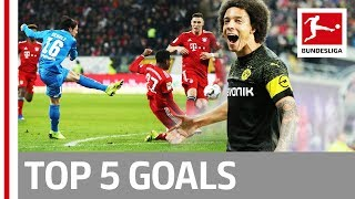 Top 5 Goals on Matchday 18 -  Lewandowski, Witsel, Rebic & More