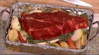 Michael's Beef Roast Over Vegetables | The Chew