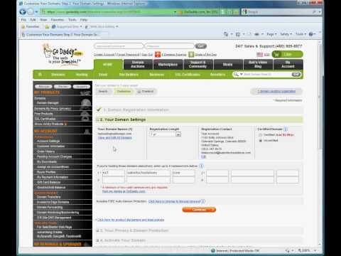 How to register a domain with Godaddy for Satori Tech Solutions hosting.avi