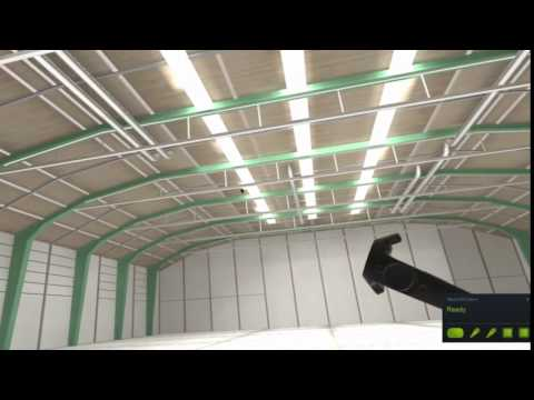 Throwing cats via Vive in a hangar because, well, we can.