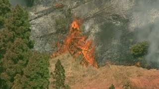 RAW: Chopper 5 Video Of Vallejo Fire Burning Out Of Control