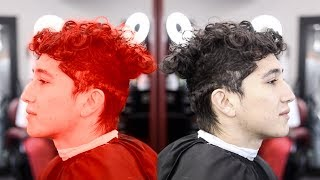BARBER TUTORIAL: COMBOVER   2 INCHES OFF THE TOP   BLOWDRY & STYLE