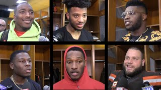 Voices from Browns locker room after win over Falcons