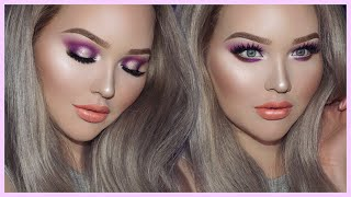 PURPLE GLAM Smokey Eyes - TOO FACED x NIKKIETUTORIALS Collection Tutorial