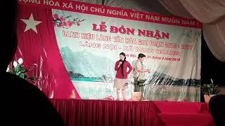 Kịch  đón làng văn hóa thôn Nội, xã Minh Quang phần 1