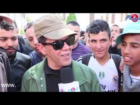 مغني القصر يغني للصحراء المغربية من مسيرة الرباط