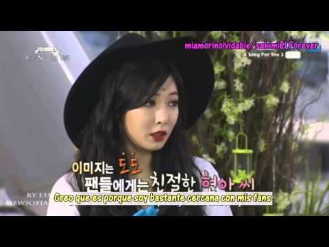 (Sub. Español) AS4U Amber imitando a Hyuna cut