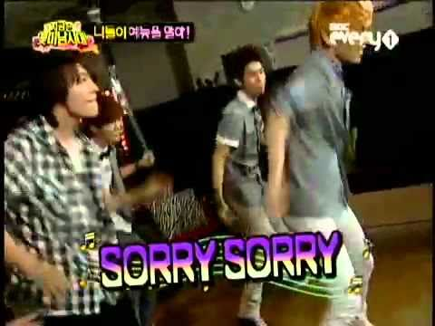SHINee's Key dancing on Sorry Sorry [SUper Junior]