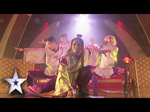 Triqstar Adds Fire To Hypnotic Kabuki Dance | Asia's Got Talent Grand Final 1
