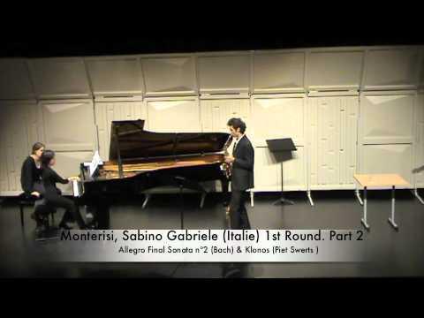 Monterisi, Sabino Gabriele (Italie) 1st Round. Part 2
