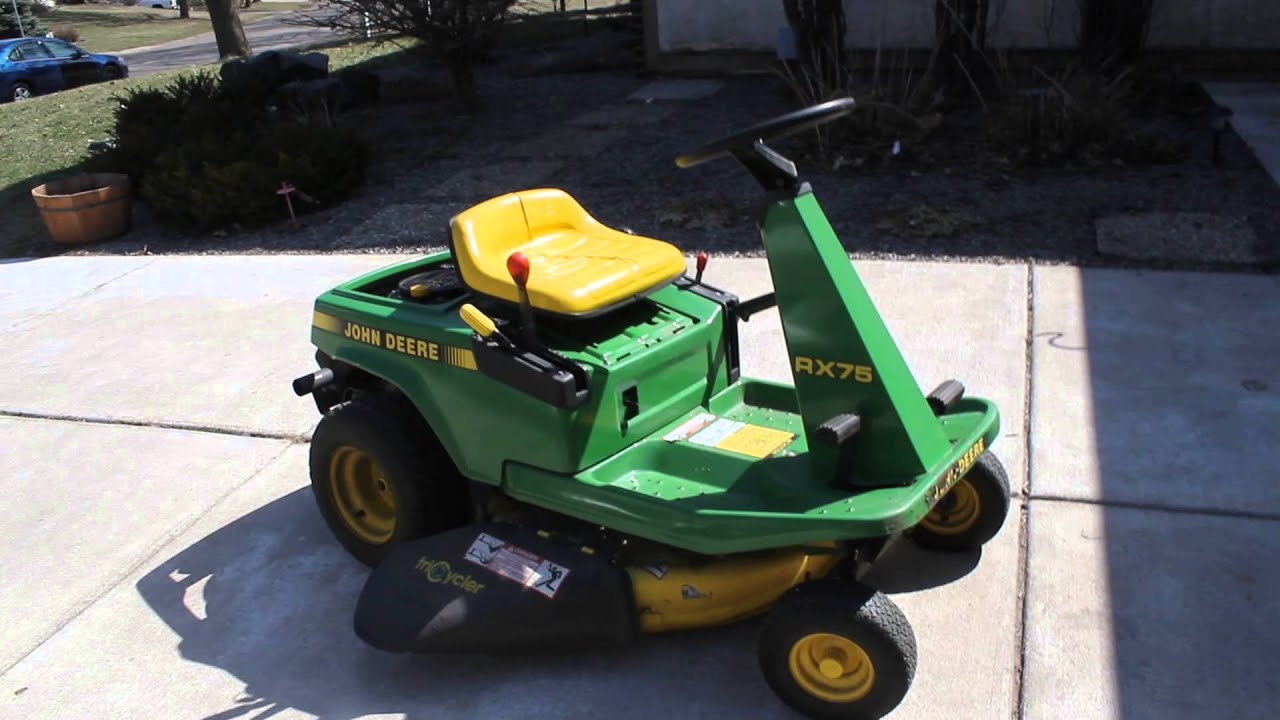John Deere Rx75 Riding Lawn Mower Tractor For Sale