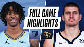GRIZZLIES at NUGGETS | FULL GAME HIGHLIGHTS | April 26, 2021