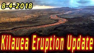 Hawaii Kilauea Volcano Eruption News Update for 8/4/2018