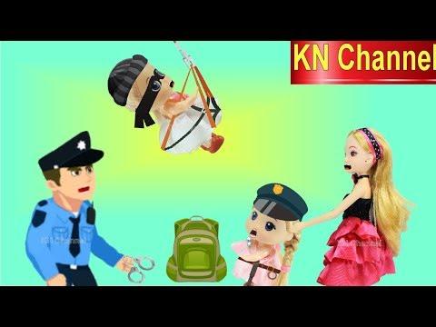 Đồ chơi trẻ em GIẢI CỨU BÚP BÊ KN Channel KHỎI TÊN CƯỚP TRONG CÔNG VIÊN VÀ CÁI KẾT....