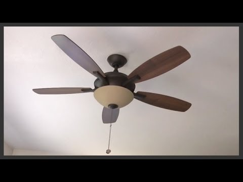 How To Assemble Amp Install A Ceiling Fan With Light Kit Youtube