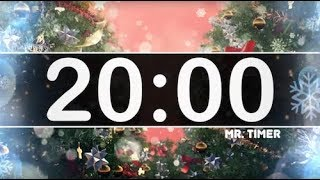 20 Minute Timer with Christmas Music - Jingle Bells - Instrumental Christmas Music for Kids!