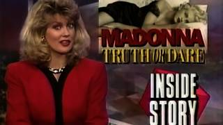 MADONNA ENTERTAINMENT TONIGHT! 1991! TRUTH OR DARE PREMIERE! INSIDE STORY! REMASTERED 2019