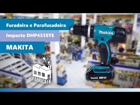 Parafusadeira Furadeira Impacto 18 V DHP453SYE Makita Bivolt - Vídeo explicativo