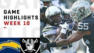 Chargers vs. Raiders Week 10 Highlights   NFL 2018