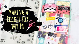 How to Make an Extra Pocket for Traveler's Notebook 2018 | Fun way to use your Scrapbook Paper!