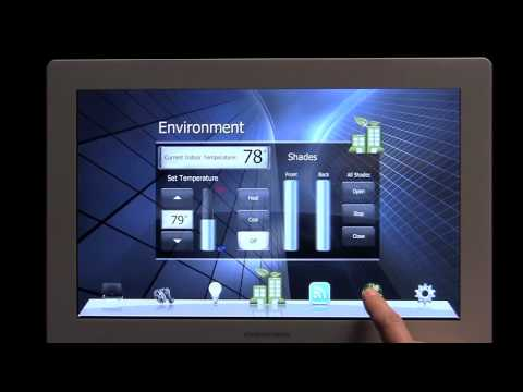 Crestron Touchpanel  - Powered by Core 3™ OS - by:  idea 3 studio ::