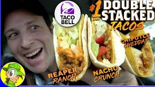 Taco Bell® | DOUBLE STACKED TACOS 2019 Review 💪🌮 | ALL FLAVORS! | Peep THIS Out! 🌮🔔