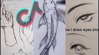 Tik Tok Drawing Tutorials #4