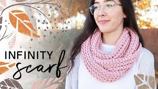 Celý návod na http   www.krampolinka.cz. How to Crochet an Infinity Scarf —  EASY for Beginners 553360832b