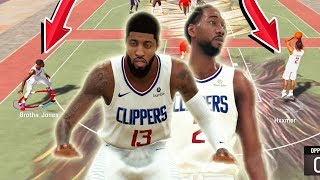 I brought PAUL GEORGE & KAWHI LEONARD BUILDS to nba 2k20 park and this happened..