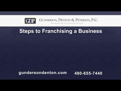 Steps to Franchising  a Business | Brad Denton