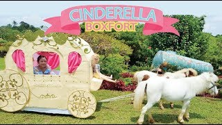 Bug's Cinderella Princess Carriage Boxfort ! Cinderella Makeover !