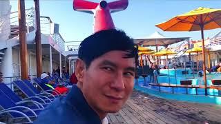 Đi dạo 1 vòng tàu 5 sao Carnival Cruise - Lý Hải Minh Hà