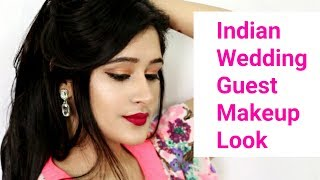 How to do : Indian Wedding Guest Makeup Look (Hindi) - Easy & affordable products
