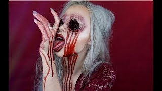GOUGED OUT EYES HALLOWEEN MAKEUP