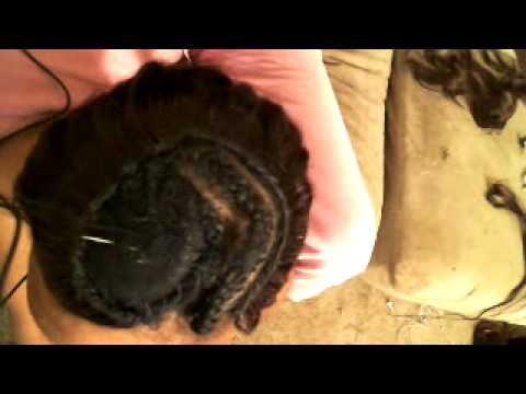 full head sew in weave with side bangs