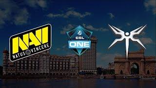 Live English: NAVI vs MINESKI BO3 | ESL One Mumbai | Upper Bracket Finals