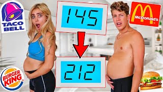 WHO CAN GAIN THE MOST WEIGHT IN 24 HOURS!! (CRAZY CHALLENGE)