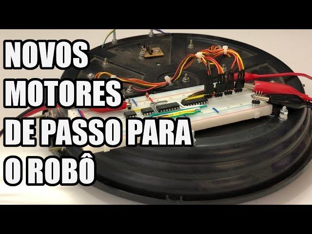 TESTE DOS NOVOS MOTORES DE PASSO | Usina Robots US-3 #015
