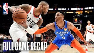 THUNDER vs TRAIL BLAZERS | Damian Lillard Takes Over in the 4th | Game 1