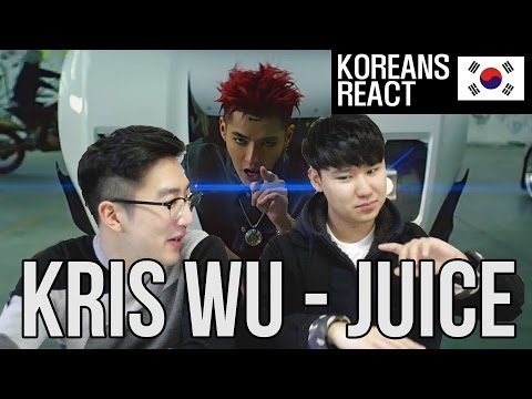 KRIS WU - JUICE M/V Korean Reaction (EX-EXO MEMBER?!)