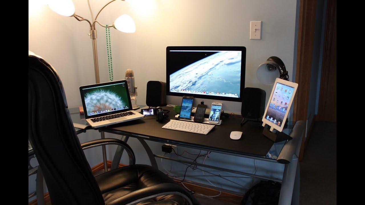 Ultimate Tech Bedroom Desk Tour Gaming Setup Desk