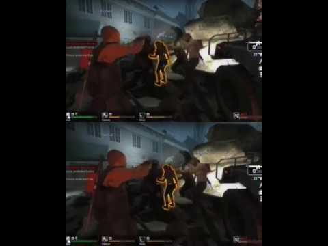 YT3D - Left4dead Death Toll footage (iz3d driver)