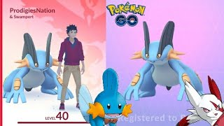 MY SWAMPERT! IS IT WORTH POWERING UP? MUDKIP NEST - POKEMON GO