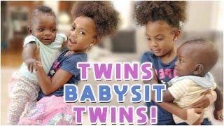 TWINS BABYSIT TWIN BABIES!